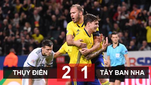 Kết quả Thụy Điển 2-1 Tây Ban Nha: Bò tót mất ngôi đầu