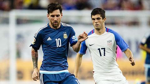 Pulisic 'đứng hình' khi đối diện Messi
