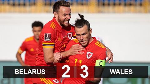 Kết quả Belarus 2-3 Wales: Show diễn của Bale