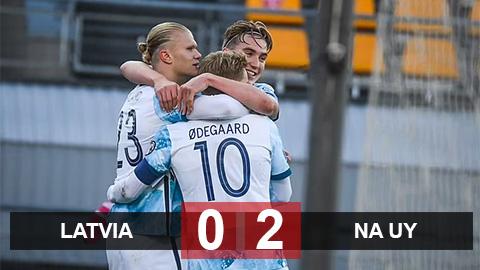 Kết quả Latvia 0-2 Na Uy: Haaland tiếp tục ghi bàn
