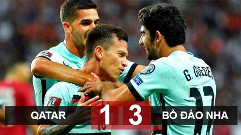 Kết quả Qatar 1-3 Bồ Đào Nha: Mưa bàn trong mưa thẻ