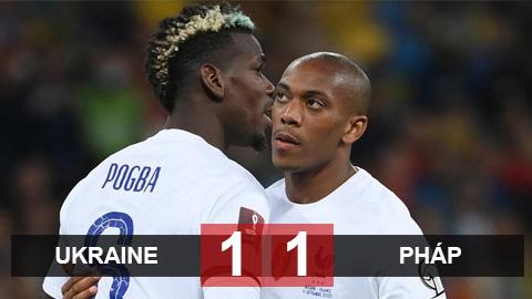 Kết quả Ukraine 1-1 Pháp: Gà trống chật vật