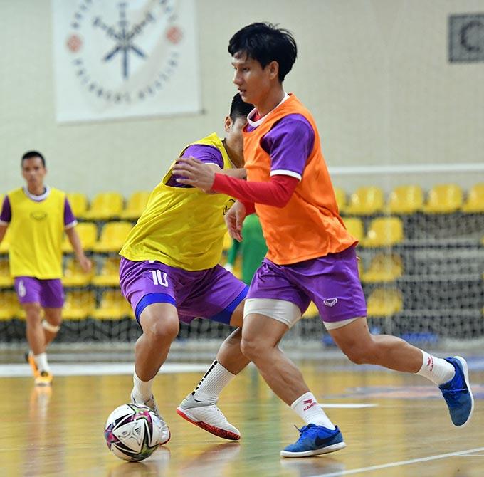 ĐT futsal Việt Nam không có ca chấn thương nào. Ảnh: Quang Thắng