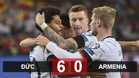 Kết quả Đức 6-0 Armenia: Nhẹ nhàng đòi lại ngôi đầu