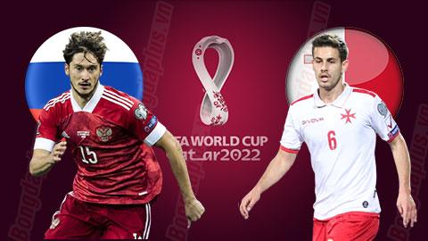 Nhận định bóng đá Nga vs Malta, 01h45 ngày 8/9