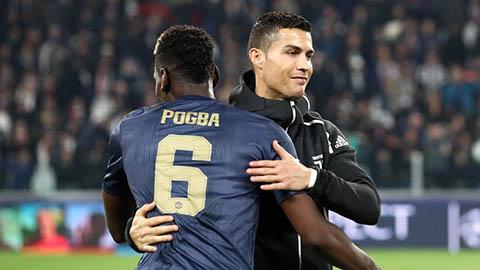 Pogba nịnh đàn anh Ronaldo