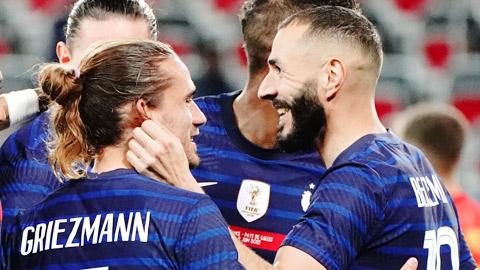 ĐT Pháp: 'Song kiếm' Griezmann – Benzema cùng nhau bùng nổ
