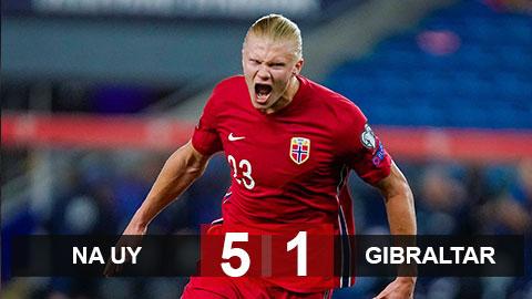 Kết quả Na Uy 5-1 Gibraltar: Không thể cản bước Haaland