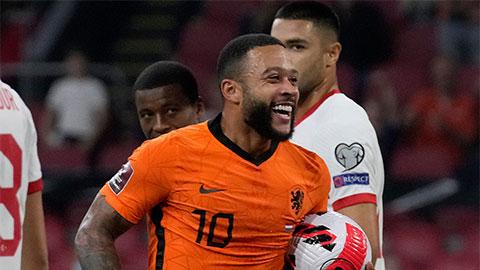 Depay nhăm nhe xô đổ kỷ lục của Kluivert ở tuyển Hà Lan