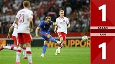 Ba Lan vs Anh: 1-1 (Vòng loại World Cup 2022)