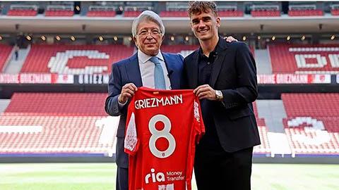 Griezmann cắt mái tóc lãng tử, nhận áo số 8 khi ra mắt Atletico