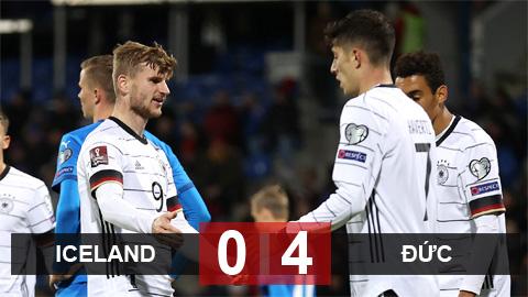 Kết quả Iceland 0-4 Đức: Xe tăng phá băng