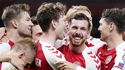 Vòng loại World Cup 2022 khu vực châu Âu: 'Chiến thần' Đan Mạch, các ông lớn lập lại trật tự