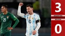Argentina vs Bolivia: 3-0 (Vòng loại World Cup 2022 khu vực Nam Mỹ)