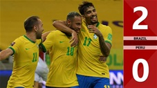 Brazil vs Peru: 2-0 (Vòng loại World Cup 2022 khu vực Nam Mỹ)