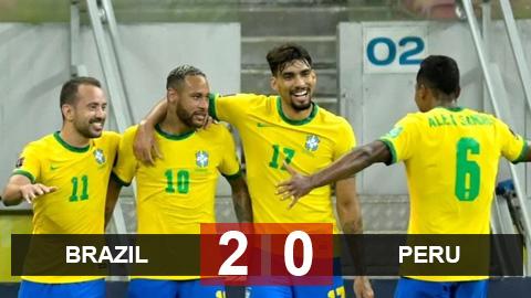 Kết quả Brazil 2-0 Peru: Neymar tỏa sáng, Selecao xây chắc ngôi đầu