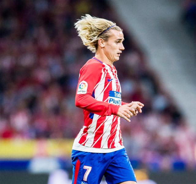 """Griezmann thăng hoa cùng kiểu tóc """"Siêu Xayda"""" cùng với Atletico trong năm 2017."""