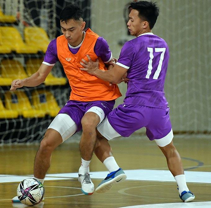 Lối đá phòng ngự phản công được ĐT futsal Việt Nam rèn kỹ chuẩn bị cho trận gặp Brazil