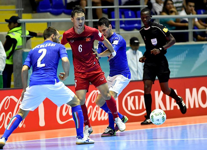 ĐT futsal Việt Nam đã tạo tiếng vang lớn trong lần đầu tiên góp mặt ở VCK futsal World Cup