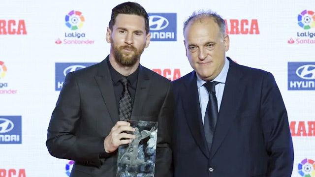 Tebas cho rằng Messi là cầu thủ hay nhất lịch sử
