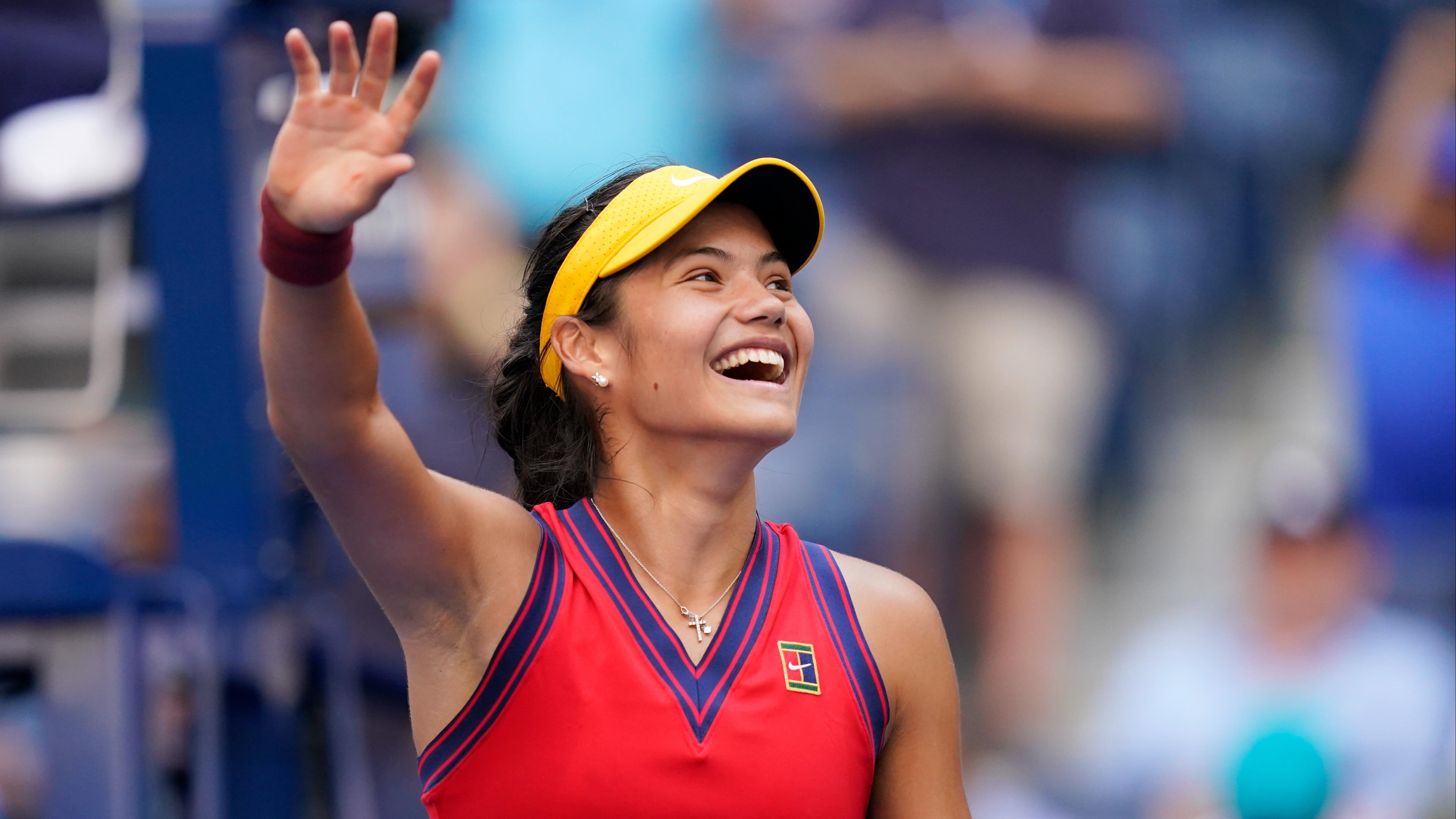 Emma Raducanu thi đấu chói sáng tại US Open 2021