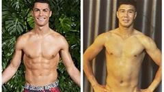 """Thủ môn Becamex Bình Dương """"gato"""" với cơ bụng 6 múi của Cristiano Ronaldo"""