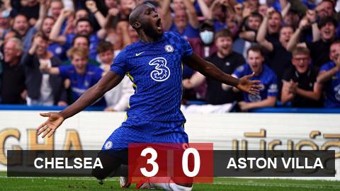 Kết quả Chelsea 3-0 Aston Villa: Lukaku rực sáng