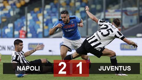 Kết quả Napoli 2-1 Juventus: Trong nỗi nhớ Ronaldo