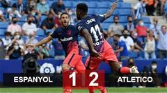 Kết quả Espanyol 1-2 Atletico: Chiến thắng ở phút bù giờ thứ 9