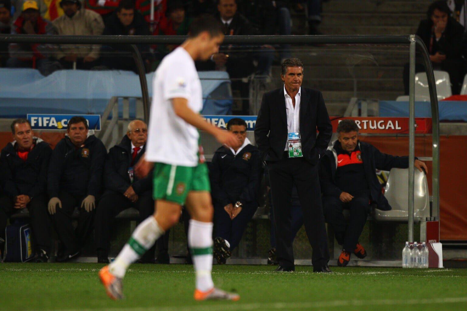 HLV Queiroz tại ĐT Bồ Đào Nha đã bị thất bại khi không có được sự ủng hộ của Ronaldo
