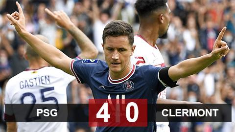 Kết quả PSG 4-0 Clermont: Người cũ MU bất ngờ tỏa sáng