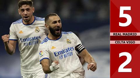 Kết quả Real Madrid 5-2 Celta Vigo: Chào sân mới Bernabeu hoành tráng