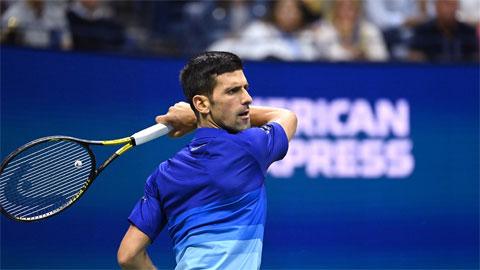Djokovic ghi được 27 điểm winner cả trận
