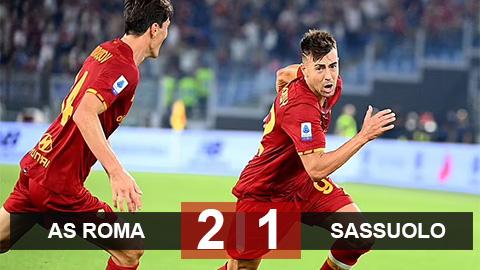Kết quả Roma 2-1 Sassuolo: Trận 1.000 nghẹt thở của Mourinho