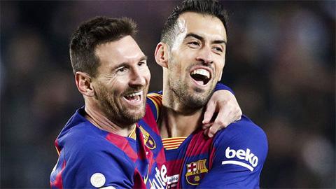 Busquets: 'Barca có thể vô địch Champions League mà không có Messi'