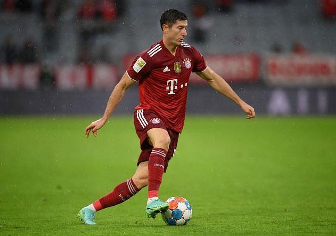 Lewandowski đang được đánh giá là ứng viên hàng đầu cho danh hiệu Vua phá lưới Champions League 2021/22