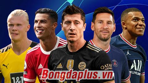 Messi, Ronaldo & những ứng viên Vua phá lưới Champions League 2021/22