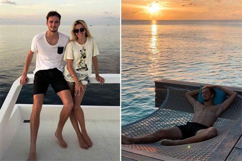 Daniil Medvedev thường cùng vợ tận hưởng những chuyến nghỉ dưỡng thư thái