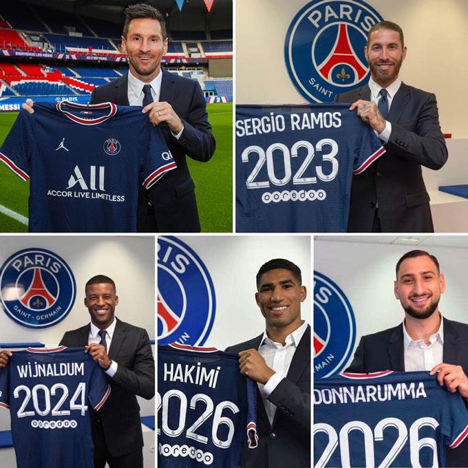 PSG là ông vua của kỳ chuyển nhượng Hè 2021 với những tân binh cực kỳ chất lượng