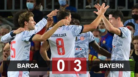Kết quả Barcelona 0-3 Bayern: Nou Camp không còn là thánh địa