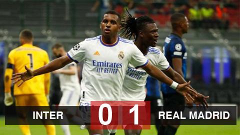 Kết quả Inter 0-1 Real Madrid: Nghiệt ngã Nerazzurri