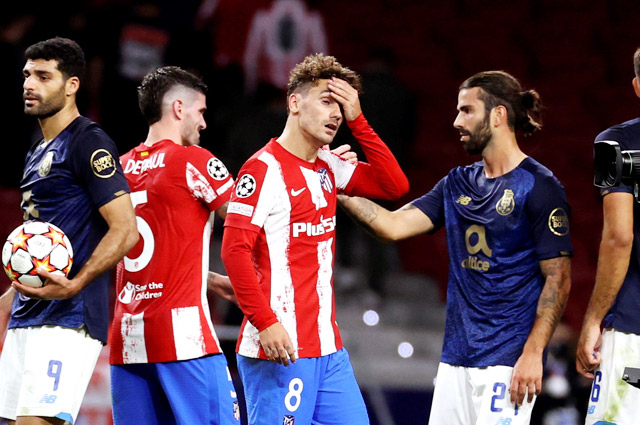 Griezmann đã chơi thất vọng trong trận gặp Porto ở Champions League