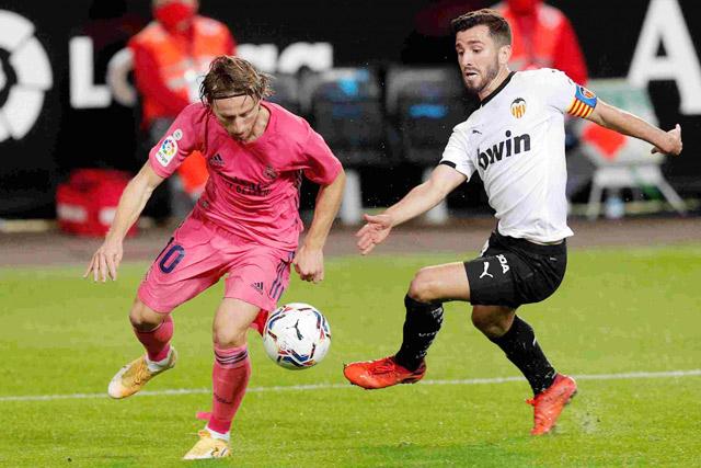 Real chỉ thắng 1 trong 7 chuyến làm khách của Valencia tại La Liga gần đây