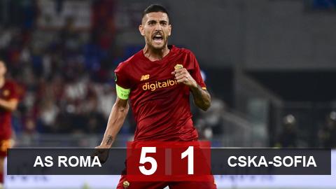 Kết quả AS Roma 5-1 CSKA Sofia: Đại tiệc bàn thắng