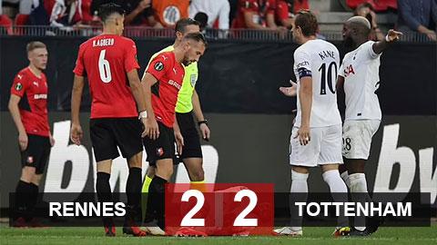Kết quả Rennes 2-2 Tottenham: Trận hòa đáng đáng quên ở Pháp