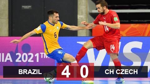 FIFA Futsal World Cup 2021: Brazil giành vé đầu tiên của bảng D vào vòng knock-out