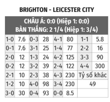 Brighton vs Leicester