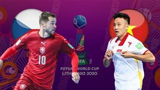 20h00 ngày19/9, futsal Việt Namvs Czech