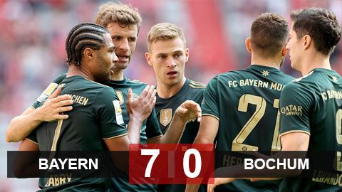 Kết quả Bayern 7-0 Bochum: Hùm xám xé nát con mồi