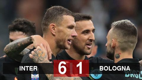 Kết quả Inter 6-1 Bologna: Vùi dập đối thủ, Inter trở lại ngôi số 1